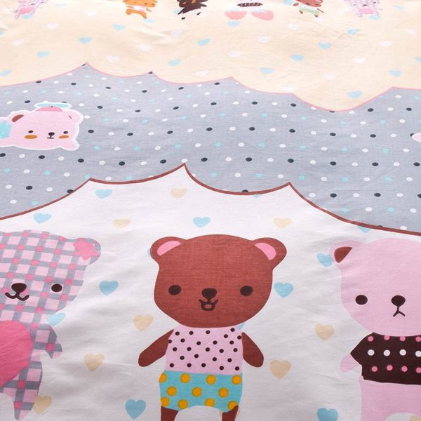 Cute and Colorful Teddy Bear Cotton Bedding Set 4 600x600 - Cute and Colorful Teddy Bear Cotton Bedding Set