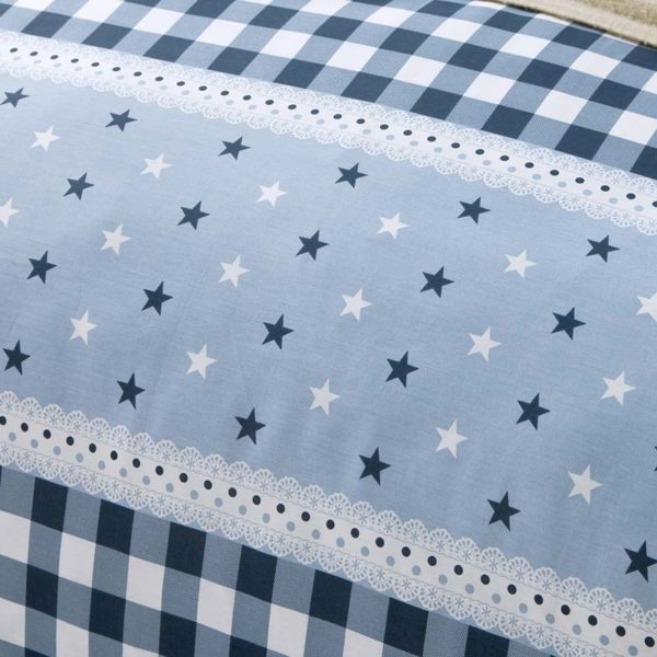 Elegant Blue Cotton Bedding Set 1 600x600 - Elegant Blue Cotton  Bedding Set