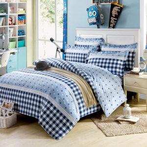 Elegant Blue Cotton Bedding Set 2 300x300 - Elegant Blue Cotton  Bedding Set