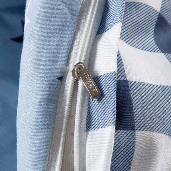 Elegant Blue Cotton Bedding Set 3 600x600 - Elegant Blue Cotton  Bedding Set