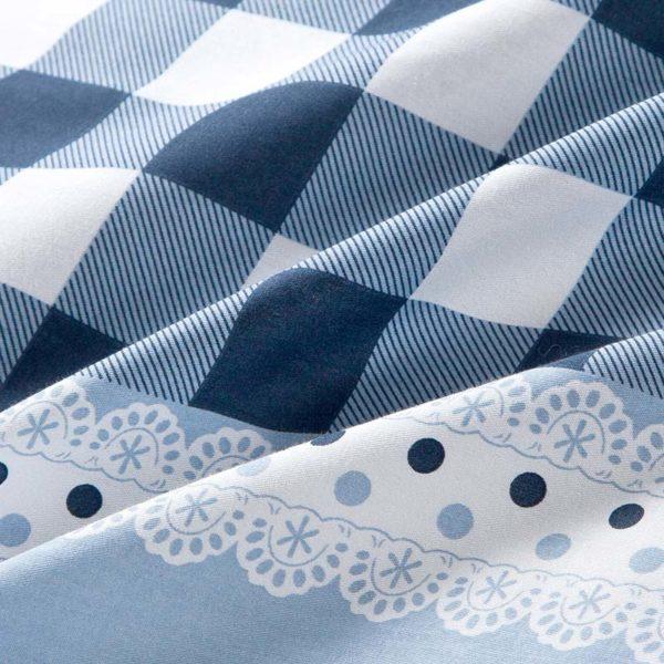 Elegant Blue Cotton Bedding Set 4 600x600 - Elegant Blue Cotton  Bedding Set