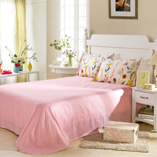 Enchanting Light Pink Floral Bedding Set 4 600x600 - Enchanting Light Pink Floral  Bedding Set