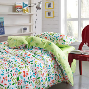Enthralling sea green and cherry pattern Cotton Bedding Set 2 300x300 - Enthralling sea green and cherry pattern Cotton  Bedding Set