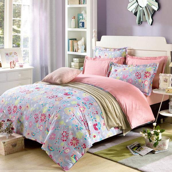 Exquisite Floral Cotton Bedding Set 1 600x600 - Exquisite Floral Cotton  Bedding Set