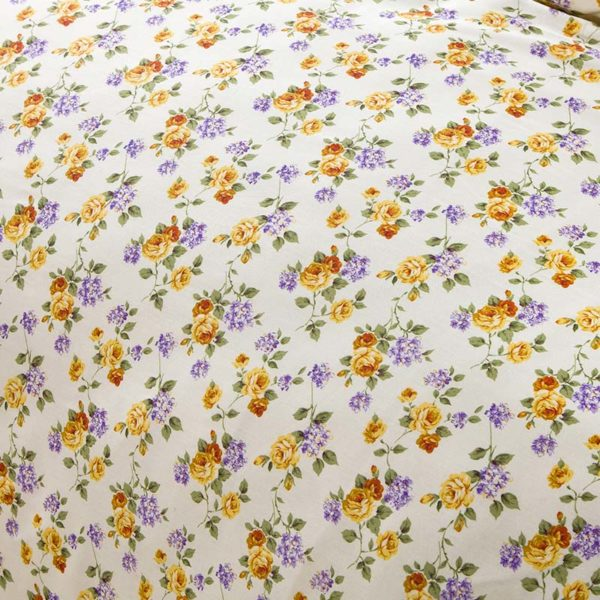 Exquisite Lilac And Brown Cotton Bedding Set 3