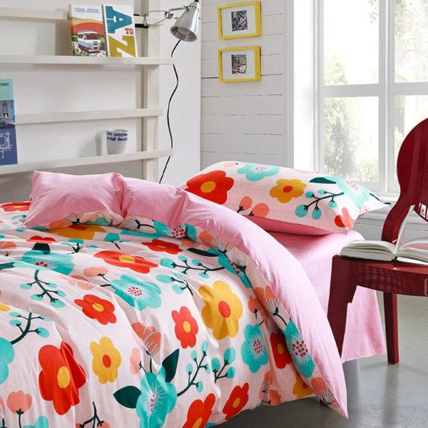 Exquisite colorful Floral Cotton Bedding Set 2