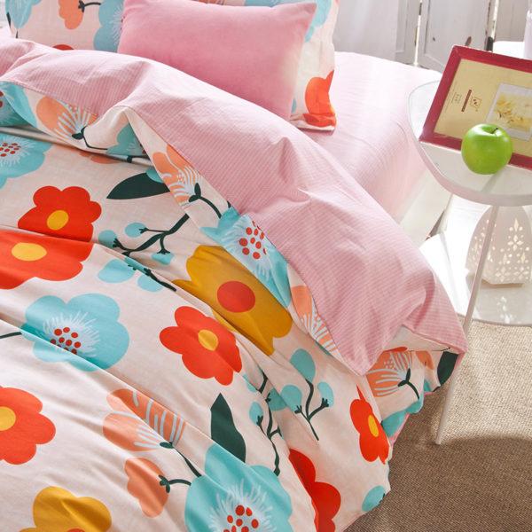 Exquisite colorful Floral Cotton Bedding Set 3