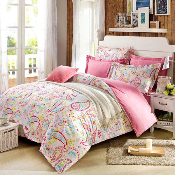 Fabulous Paisley Cotton Bedding Set 1 600x600 - Fabulous Paisley Cotton Bedding Set