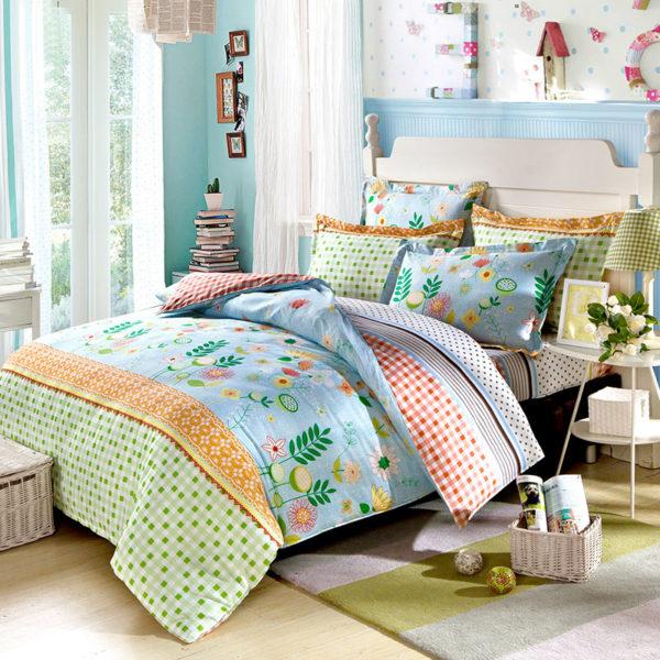 Fantastic Flower Cotton Bedding Set 1 600x600 - Fantastic Flower Cotton Bedding Set