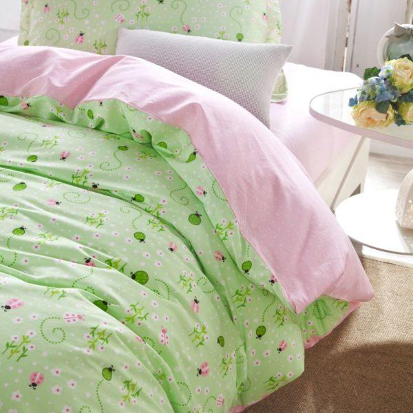 Graceful Light Green Floral Cotton Bedding Set 1 compressed 600x600 - Graceful Light Green Floral Cotton  Bedding Set