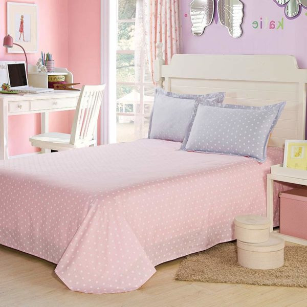 Graceful Purple And Pink Cotton Bedding Set 4 600x600 - Graceful Purple And Pink Cotton  Bedding Set