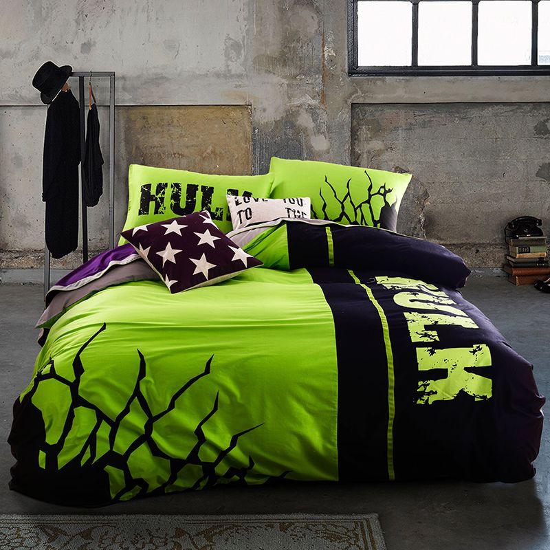 Incredible Hulk Bedding Set Queen Size For Teen Boys Bedroom Decor