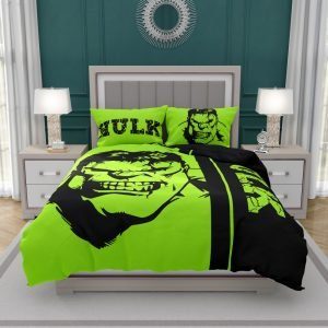 Incredible Hulk Bedding Set Queen Size For Teen Boys Bedroom Decor