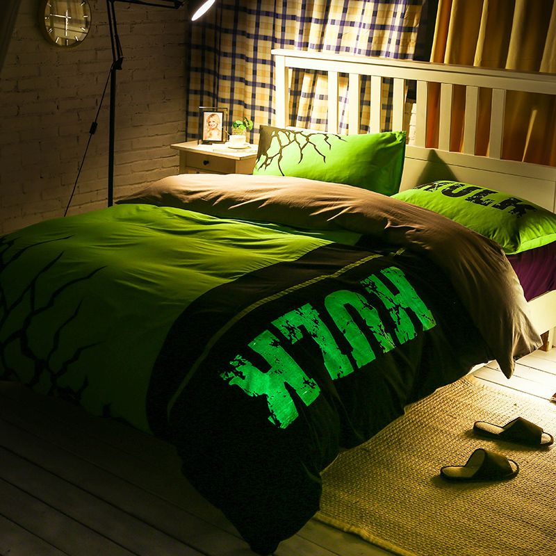 Bedding Decor: Incredible Hulk Bedding Set Queen Size For Teen