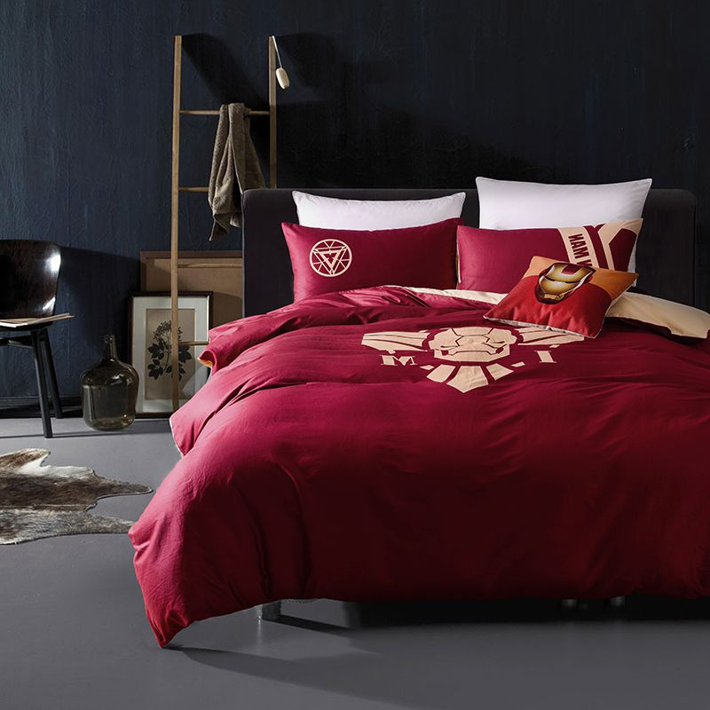 iron man bedding queen set superhero bedroom decor