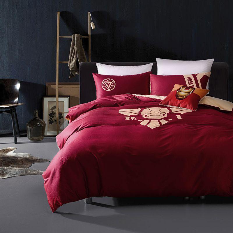 Iron Man Bedding Queen Set Superhero Bedroom Decor