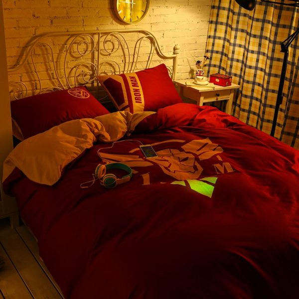 Iron Man Bedding Queen Set Superhero Bedroom Decor 7 600x600 - Iron Man Bedding Queen Set Superhero Bedroom Decor