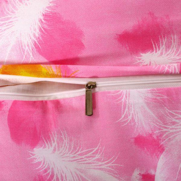 Kids Pink White Swan Princess Girls Comforter Set 2