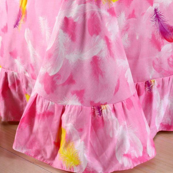 Kids Pink White Swan Princess Girls Comforter Set 5