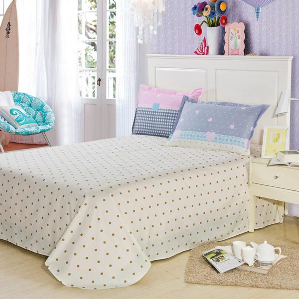 Light Pink And White Exclusive Cotton Bedding Set 2
