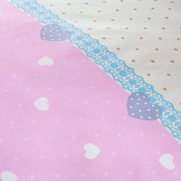Light Pink And White Exclusive Cotton Bedding Set 3