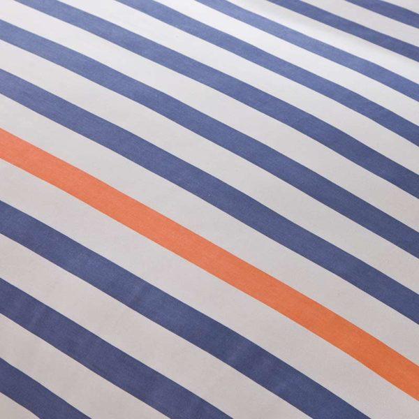 Lovely Blue White And Orange Cotton Bedding Set 5