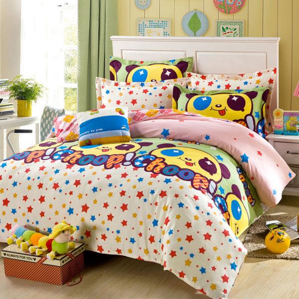 Panda Themed Cotton Bedding Set 1 600x600 - Panda Themed  Cotton Bedding Set
