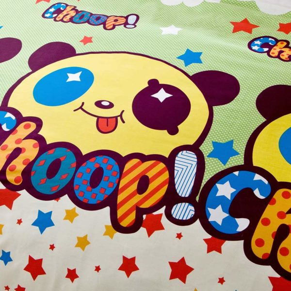 Panda Themed Cotton Bedding Set 4 600x600 - Panda Themed  Cotton Bedding Set