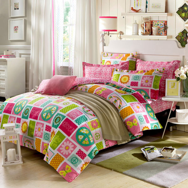 Peace Themed Cotton Bedding Set 1
