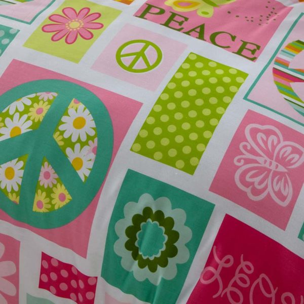 Peace Themed Cotton  Bedding Set