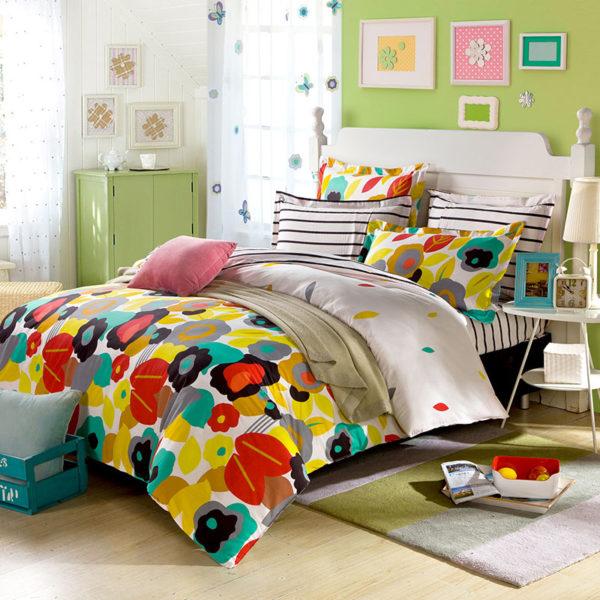 Posh Stripes And Flower Bedding Set 1 600x600 - Posh Stripes And Flower Bedding Set
