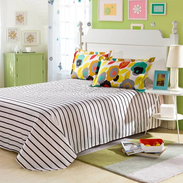 Posh Stripes And Flower Bedding Set 2 600x600 - Posh Stripes And Flower Bedding Set