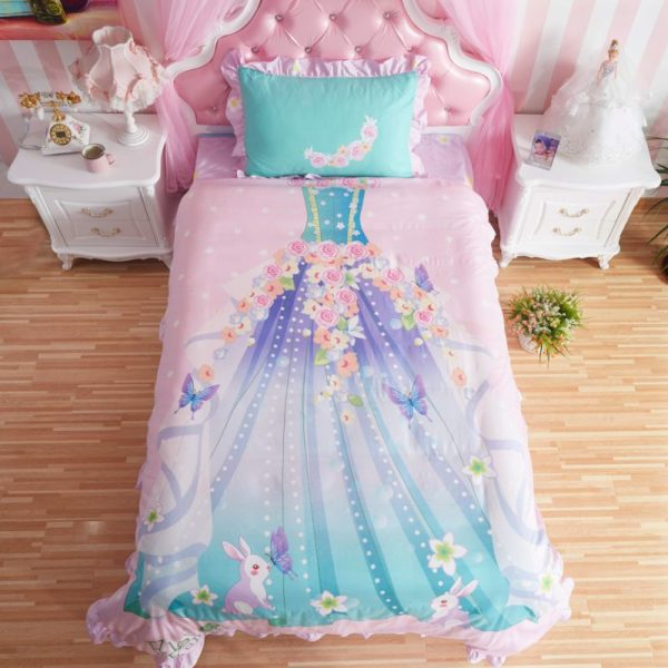 Princess Bedroom Set For Little Girl Pink Bedding twin