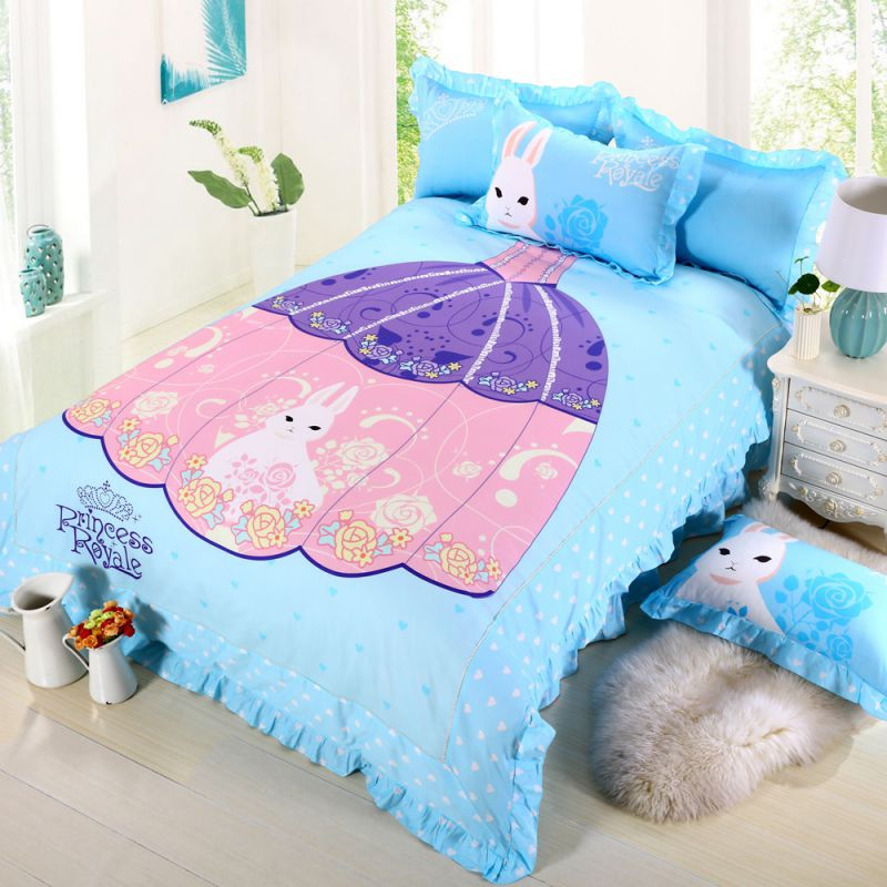 Princess Rivals Teenage Girls Blue Bed Set Ebeddingsets