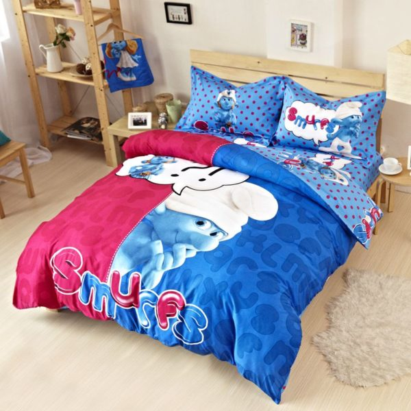 Smurfs Bed Set Twin Queen King Size