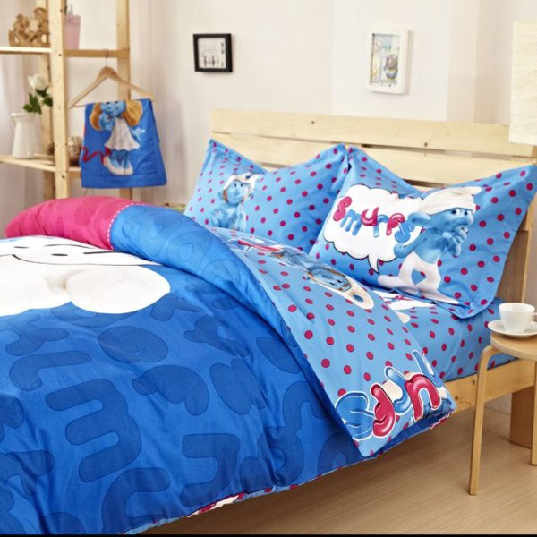 Smurfs Bed Set Twin Queen King Size 3