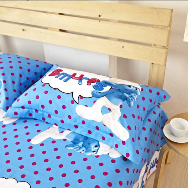 Smurfs Bed Set Twin Queen King Size 6
