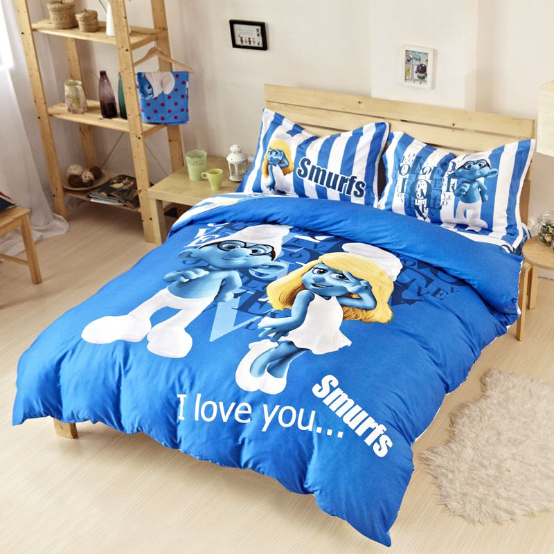Smurfs Bedding Set Twin Queen King Size Ebeddingsets