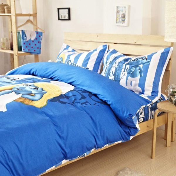 Smurfs Bedding Set Twin Queen King Size 4 600x600 - Smurfs Bedding Set Twin Queen King Size