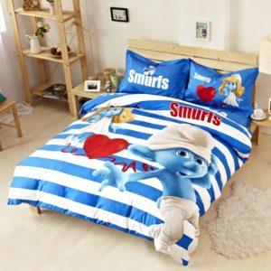 Smurfs Comforter Set Twin Queen King Size