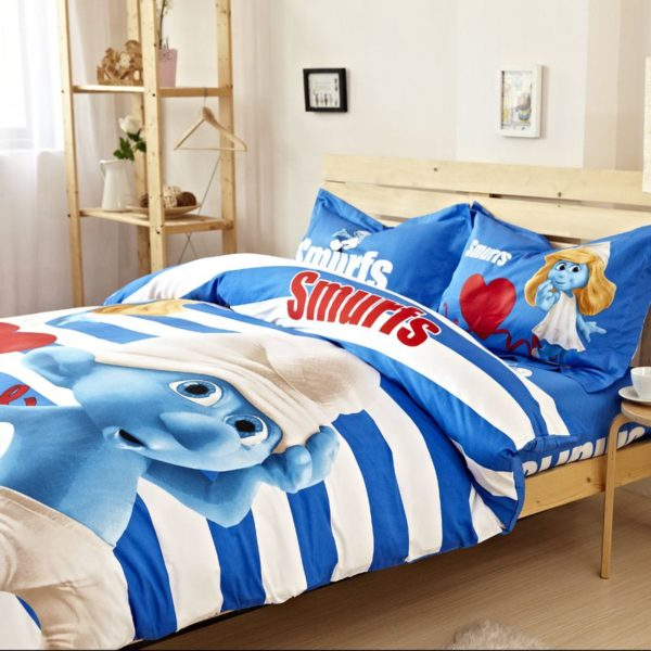 Smurfs Comforter Set Twin Queen King Size