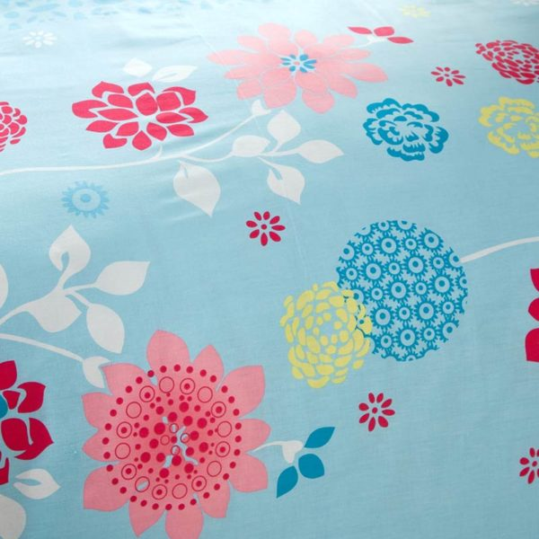 Soothing Light Teal And Pink Cotton Bedding Set 5 600x600 - Soothing Light Teal And Pink Cotton  Bedding Set