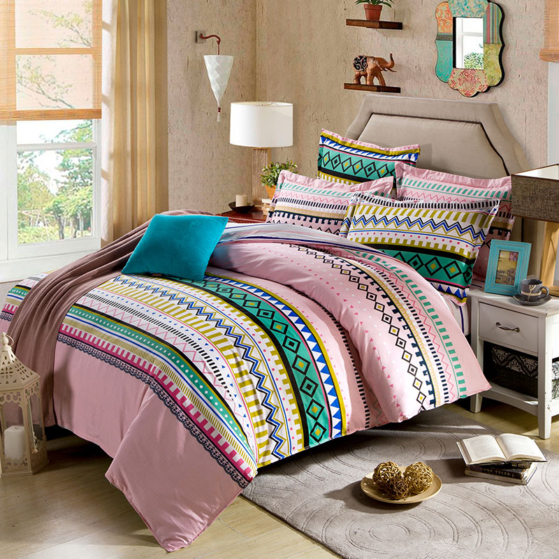 Sophisticated Aztec Themed Cotton Bedding Set Ebeddingsets