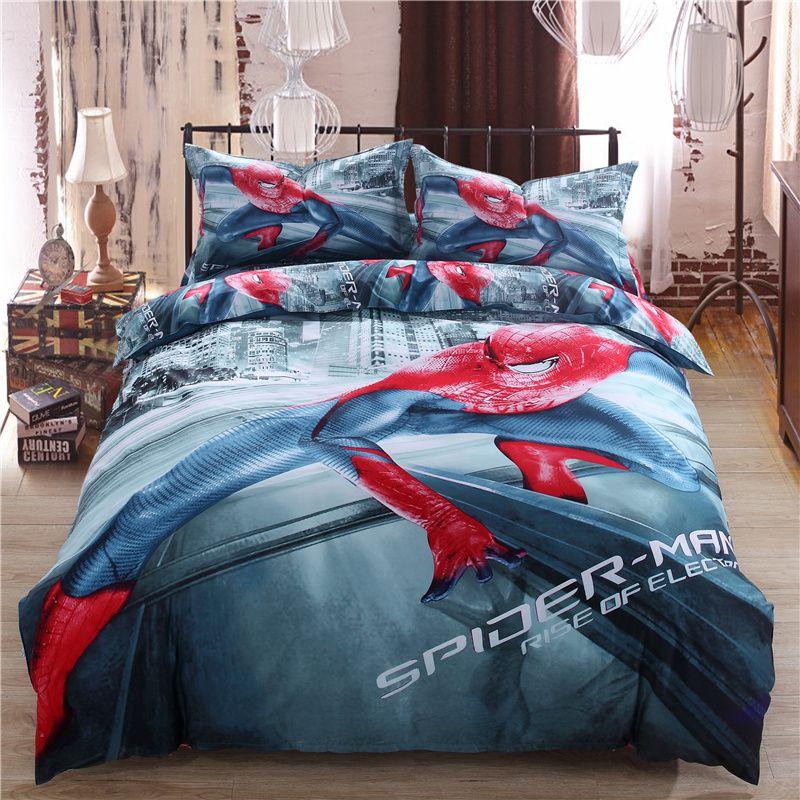 Spiderman Bed Set Twin Queen King Size Comforter