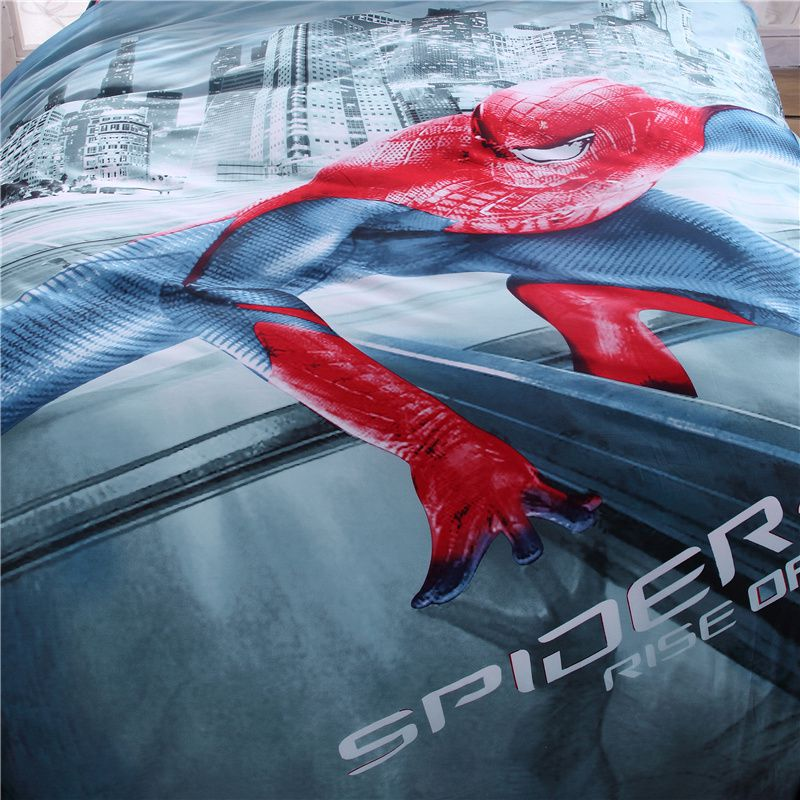 Spiderman Bed Set Twin Queen King Size Comforter