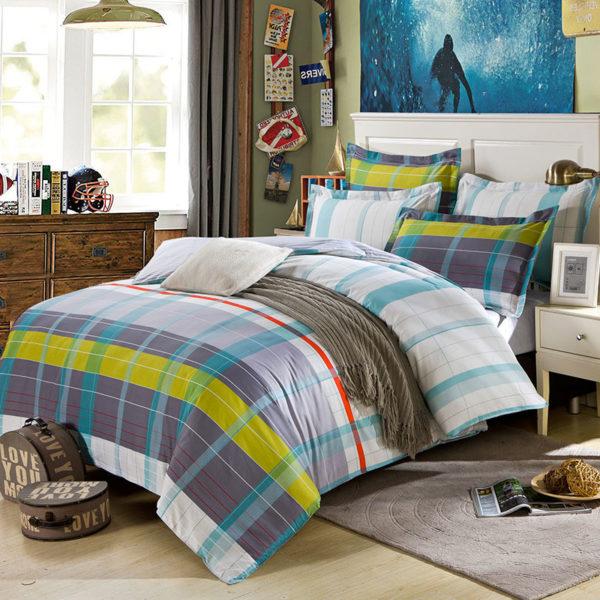 Stylish Cotton  Bedding Set In Grey