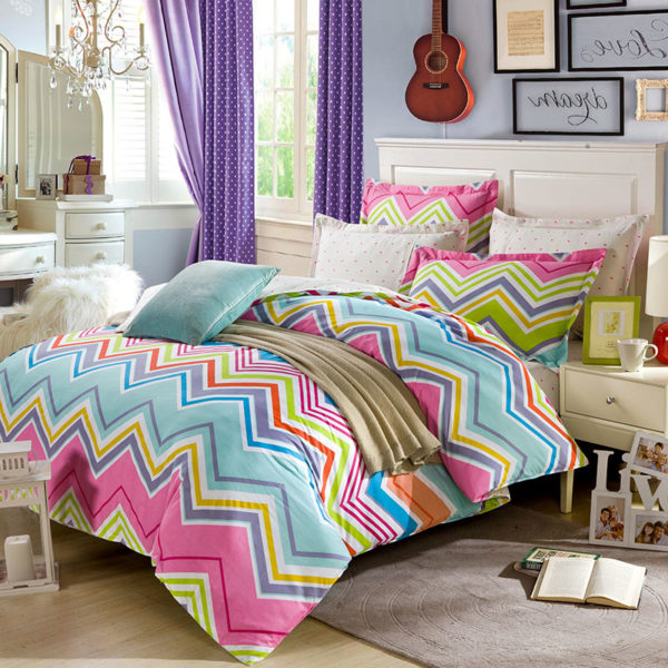 Stylish Multicolored Cotton Bedding Set 1 600x600 - Stylish Multicolored Cotton Bedding Set