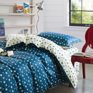 Stylish Stars Blue and White Cotton Bedding Set 1 300x300 - Stylish Stars Blue and White Cotton Bedding Set