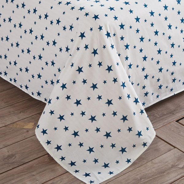 Stylish Stars Blue and White Cotton Bedding Set 3 600x600 - Stylish Stars Blue and White Cotton Bedding Set