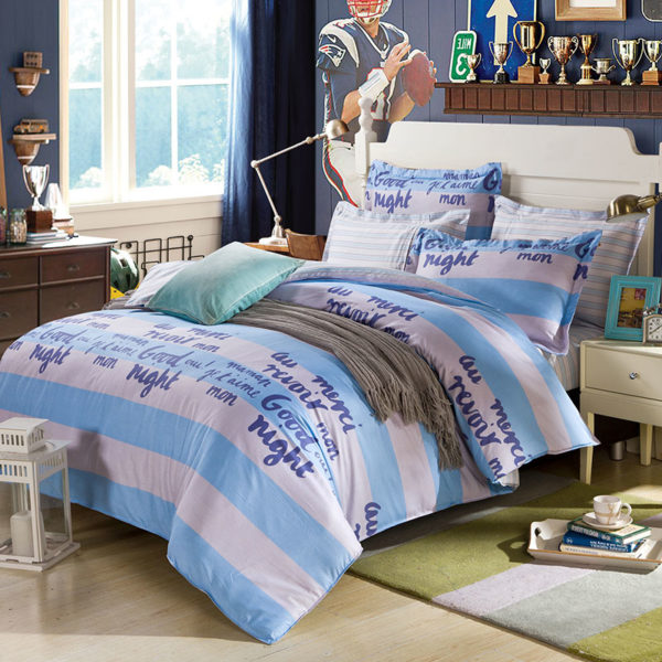 Stylish White And Blue Cotton Bedding Set 1 600x600 - Stylish White And Blue Cotton Bedding Set